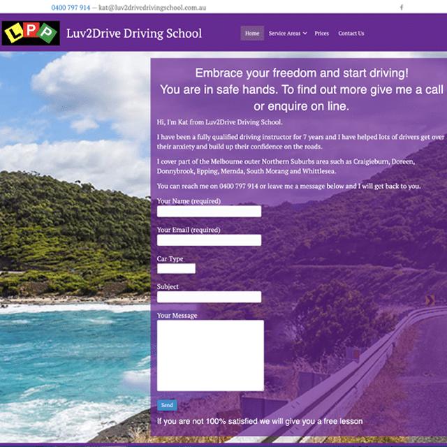 luv2drivedrivingschool website